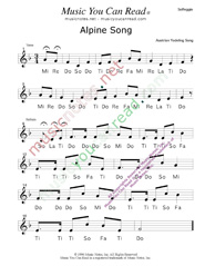 "Click to Enlarge: ""Alpine Song"" Solfeggio Format"