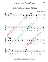 "Click to enlarge: ""Autumn Leaves Are Falling"" Beats Format"