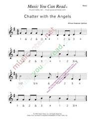 "Click to enlarge: ""Chatter with the Angels"" Beats Format"