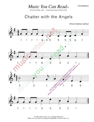 "Click to Enlarge: ""Chatter with the Angels"" Pitch Number Format"