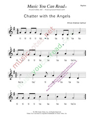 "Click to Enlarge: ""Chatter with the Angels"" Rhythm Format"