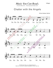 "Click to Enlarge: ""Chatter with the Angels"" Solfeggio Format"