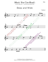 """Deep and Wide"" Music Format"