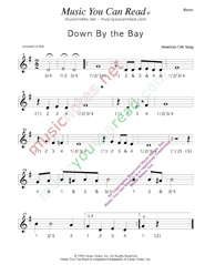 "Click to enlarge: ""Down by the Bay"" Beats Format"