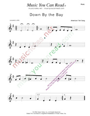 """Down by the Bay"" Music Format"