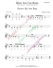 "Click to Enlarge: ""Down by the Bay"" Pitch Number Format"