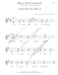 "Click to enlarge: ""Good-Bye My Riley O"" Beats Format"