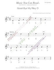 "Click to Enlarge: ""Good-Bye My Riley O"" Pitch Number Format"
