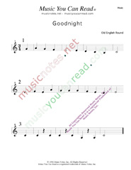 """Goodnight"" Music Format"