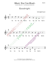 "Click to Enlarge: ""Goodnight"" Rhythm Format"