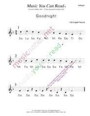 "Click to Enlarge: ""Goodnight"" Solfeggio Format"