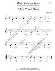"Click to enlarge: ""I Saw Three Ships"" Beats Format"