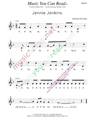 "Click to Enlarge: ""Jennie Jenkins"" Rhythm Format"