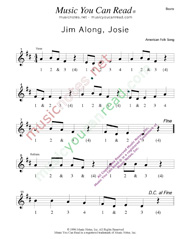 "Click to enlarge: ""Jim Along Josie"" Beats Format"