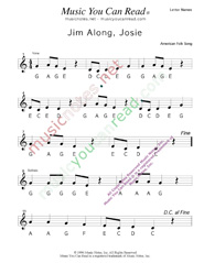 "Click to Enlarge: ""Jim Along Josie"" Letter Names Format"