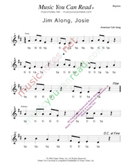 "Click to Enlarge: ""Jim Along Josie"" Rhythm Format"