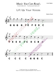 "Click to Enlarge: ""Lift Up Your Voices"" Letter Names Format"