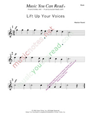 """Lift Up Your Voices"" Music Format"