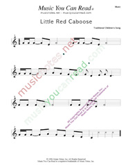 """Little Red Caboose"" Music Format"