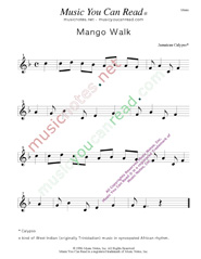 """Mango Walk"" Music Format"