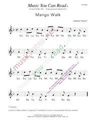 "Click to Enlarge: ""Mango Walk"" Solfeggio Format"