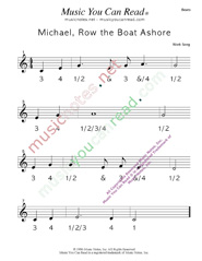 "Click to enlarge: ""Michael Row the Boat Ashore"" Beats Format"