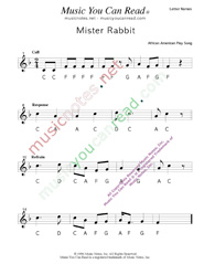 "Click to Enlarge: ""Mister Rabbit"" Letter Names Format"