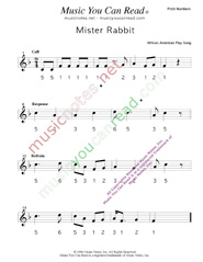 "Click to Enlarge: ""Mister Rabbit"" Pitch Number Format"