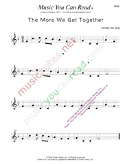 """The More We Get Together"" Music Format"