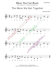 "Click to Enlarge: ""The More We Get Together"" Pitch Number Format"