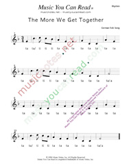 "Click to Enlarge: ""The More We Get Together"" Rhythm Format"