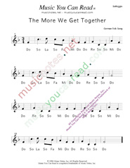"Click to Enlarge: ""The More We Get Together"" Solfeggio Format"