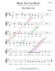 "Click to Enlarge: ""My Bonnie"" Rhythm Format"