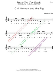 "Click to enlarge: ""Old Woman and the Pig"" Beats Format"