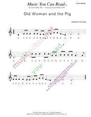 "Click to Enlarge: ""Old Woman and the Pig"" Letter Names Format"