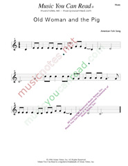 """Old Woman and the Pig"" Music Format"