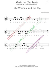 "Click to Enlarge: ""Old Woman and the Pig"" Rhythm Format"