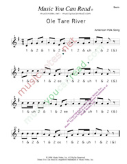 "Click to enlarge: ""Ole Tar River"" Beats Format"