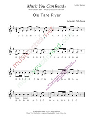 "Click to Enlarge: ""Ole Tar River"" Letter Names Format"