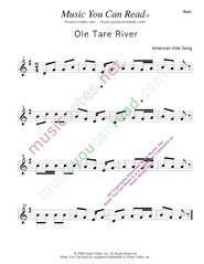 """Ole Tar River"" Music Format"