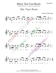 "Click to Enlarge: ""Ole Tar River"" Pitch Number Format"