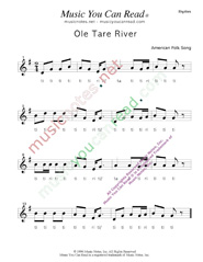 "Click to Enlarge: ""Ole Tar River"" Rhythm Format"