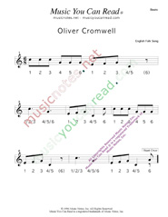 "Click to enlarge: ""Oliver Cromwell"" Beats Format"