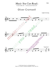 """Oliver Cromwell"" Music Format"