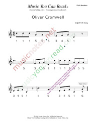 "Click to Enlarge: ""Oliver Cromwell"" Pitch Number Format"