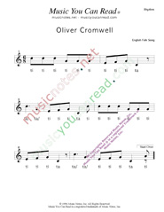 "Click to Enlarge: ""Oliver Cromwell"" Rhythm Format"