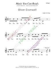 "Click to Enlarge: ""Oliver Cromwell"" Solfeggio Format"