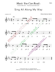 "Click to enlarge: ""Sing All Along the Way"" Beats Format"