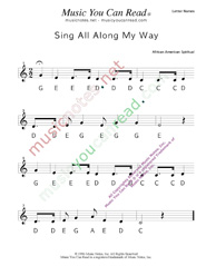 "Click to Enlarge: ""Sing All Along the Way"" Letter Names Format"