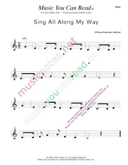 """Sing All Along the Way"" Music Format"